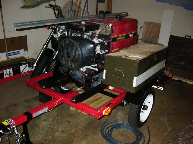 Welding machine - front view