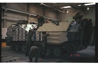 Armor plating Marine Corps Am-tracks